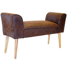 Vintage Faux Cuir Chaise longue Banc / chaise chaise - Brune-OCH5000