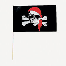 24 Pirate FLAGS Birthday Party Favors Skull Goody Bag Filler Decorations