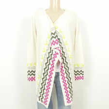 EDC BY ESPRIT Offener Cardigan Zipfel Ethno Offwhite Gr. S 36