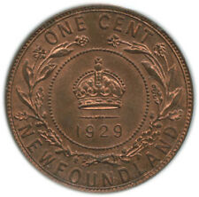 1 Cent Newfoundland 1929 Graded MS65 by ICCS