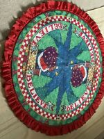 VTG 1986 Mary Engelbreit Christmas Table Tree Covering Felt *Rare Believe 44""