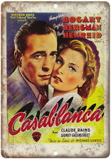 "Humphrey Bogart Casablanca Vintag Poster 10"" x 7"" Reproduction Metal Sign I19"
