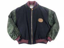 Vintage 90's Iceberg Blue Green Suede Wool Leather Jacket Size 50