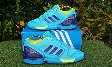 BNWB Genuine Adidas Originals ZX Flux Techfit ® OG Bright Cyan Baskets Taille UK 4