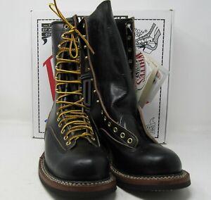 """White's Boots, 400LTT-C. 8.5 E, 9"""".Black Horse. Composition soles. BLEM!"""