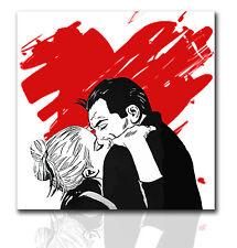Quadro moderno Diabolik Eva Kant dipinto a mano su tela idea regalo pop art