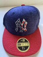 New York Yankees 2017 On Field July 4th Stars Era 59FIFTY Hat Low Profile 7 1/8
