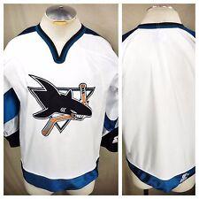 Vintage Starter San Jose Sharks Small Pullover Hockey Jersey White