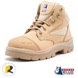 Steel Blue Parkes Sand Zip Work Boots Safety Toe Scuff Cap 312658