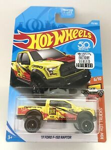 Hot Wheels Factory Sealed HW Hot Trucks 6/10 Yellow '17 Ford F-150 Raptor 1:64