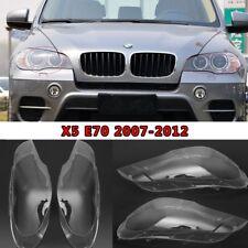 2x BMW X5 E70 2008-2012 Klar Scheinwerferglas Scheinwerfer Streuscheibe Set