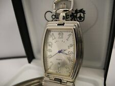 Colibri Silvertone Silver Face Pocket Watch W/Date New Reduced