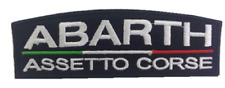 ABARTH ASSETTO CORSE automobile écusson à coudre12 x 4 cm neuf