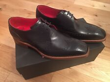 NEW Jeffery West Navy Calf Leather Caine Canfield Lace Up Shoes UK 8 STUNNING!!!