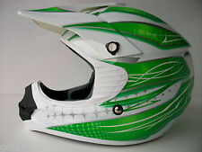 NEW THH GREEN Sz XL MOTOCROSS ENDURO HELMET ROAD LEGAL GOLD ACU KX KXF KDX KMX