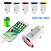 For LG Samsung iPhone Rapid Car Charger 3A USB Qualcomm Quick Charge 3.0 QC3.0