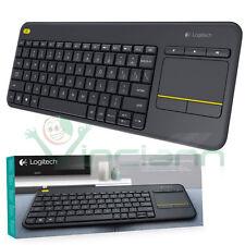 Tastiera Wireless Logitech Touch K400 Plus Touch-pad Layout Italiano Qwerty Nero