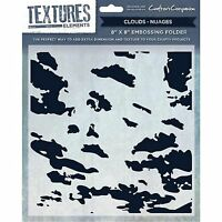 """CRAFTERS COMPANION TEXTURES ELEMENTS 8x8"""" EMBOSSING FOLDERS & A6 STAMP SETS"""