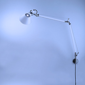 ARTEMIDE Tolomeo Wall Lamp w/ S-Bracket Aluminum by De Lucchi, Fassina