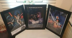 Star Wars 3 no A3 ORIGINAL trilogy high quality framed posters brand new