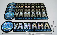 5x New YAMAHA FACTORY RACING  Foil  Motocross   Decals Sticker Blue