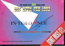 $ IN TER DANCE Rave Flyer Flyers A5 27/2/93 Sterns Worthing