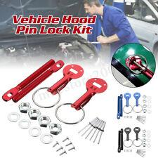 Universal Alloy Steel Mount Bonnet Hood Pin Pins Lock Latch Kit Racing Car