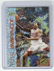 ALLEN IVERSON 1997-98 SKYBOX Z-FORCE TOTAL IMPACT INSERT #5 76ERS