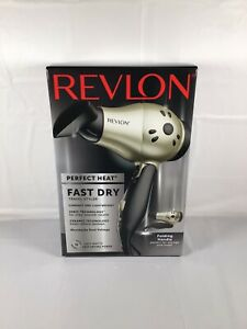 Revlon RVDR5005F Perfect Heat Fast Dry Travel Styler, 1875 Watt, Folding Handle