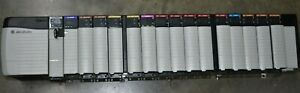 ALLEN BRADLEY CONTROLLOGIX LOADED 17 SLOT RACK COMPLETE  SYSTEM WITH 1756-L62