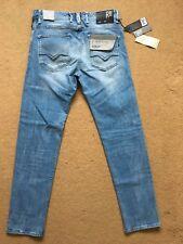 "REPLAY RBJ.901 Laserblast Men's Stretch Tapered Blue Jeans, W31"", L30"", RRP£145"