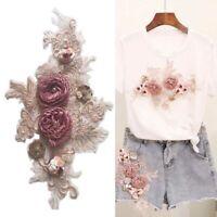 3D Flower Lace Embroidery Patch Applique Clothes Pants DIY Sewing Accessories