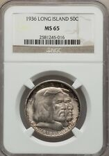 1936 Long Island 50C Half Dollar Commemorative - NGC MS65