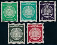 DDR-Dienst, MiNr. A 29-33 y, postfrisch, Fotoattest Dr. Ruscher, Mi. 1920,-
