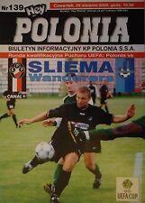 Programa UEFA Cup 2002/03 Polonia Varsovia-Sliema Wanderers