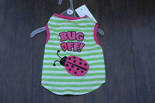 Dog clothing size S Bug Off Dog clothing size Small Lady Bug Dog shirt Size S