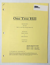 ONE TREE HILL revised partial script ~ 6 YELLOW PAGES ~ Season 1, Episode 19