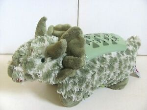Pillow Pets Dream Lites Triceratops Plush Toy Battery Operated Night Light