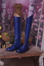 Navy Two tone Tall Handmade Dressage Equestrian Horse Riding Boot UK 3-12