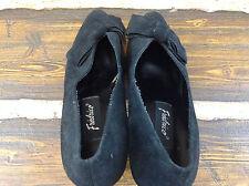 Vintage FREDRICO Black High Heels Shoes Size 7 1/2 M