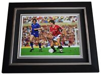 Norman Whiteside SIGNED 10x8 FRAMED Photo Autograph Display Manchester United