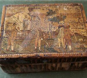 Antique Napoleonic Prisoner of War Straw Box