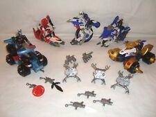Power Rangers SPD vehículos 5x + 4 figuras de acción ciclo de patrulla & Atv