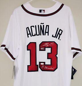 Ronald Acuna Jr. Signed Inscribed Authentic Atlanta Braves Nike Jersey JSA USASM