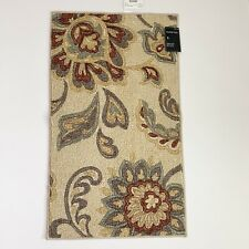 "Target Maples Tan Paisley Floral Accent Rug 20"" x 34"""