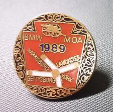 BMW Pin 1989 Moa Harrisberg Lancaster York Gettysburg Esmaltado 26mm