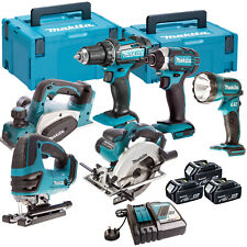 Makita 18V Li-ion 6 Piece Monster Kit with 3 x 4.0AH Batteries & Charger in Case