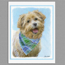 6 Glen of Imaal Terrier Dog Blank Art Note Greeting Cards