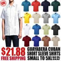 Brand New Men's Guayabera NWT Cuban Dress Shirts in Multiple Colors and Sizes