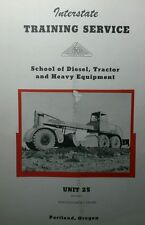 Hercules Diesel Dfx Drx Engine Service Training Manual 1953 Repair Tractor 48pg